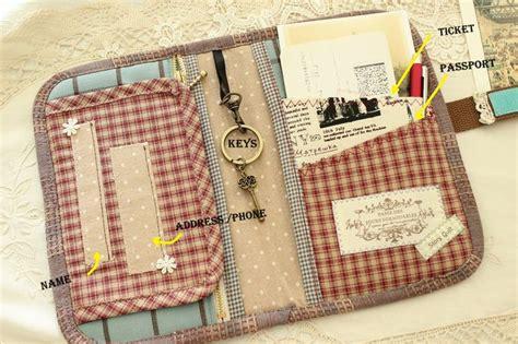 Handmade Purse Pattern - vintage story book like travel organizer travel purse