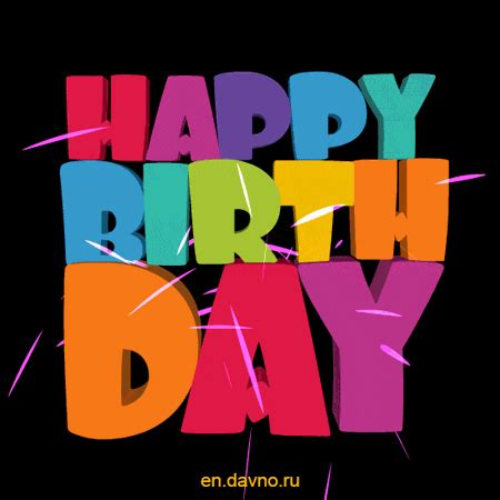 cool happy birthday animated text image gif   funimadacom