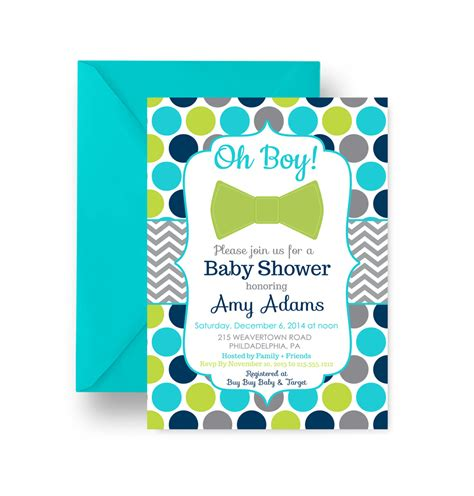 Bow Tie Baby Shower Invitations by Vibrant Boys Baby Shower Invitation Bow Tie Aqua And Navy
