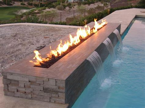 pool fire pit creative outdoor gas fire pit in rectangular shape