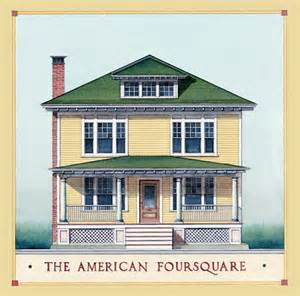 American Foursquare House Plans American Foursquare Architecture Interiors House