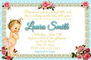vintage baby baby shower invitation digital invitations