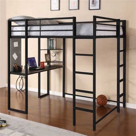 adult loft bed modern full size metal loft beds for adults with desk