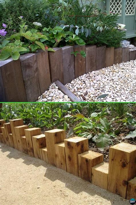 Wood Garden Edging Ideas Creative Garden Bed Edging Ideas Projects