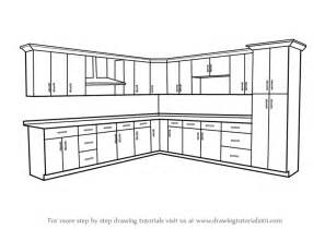 Draw Kitchen Cabinets | learn how to draw kitchen cabinets furniture step by