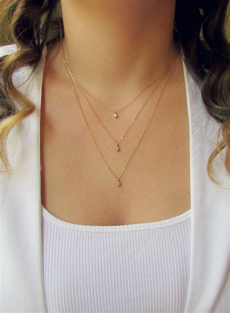 Layered Necklace dainty layered necklaces www pixshark images