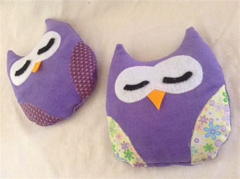 easy owl crafts for simple owl heat packs made for the arts craft stall of