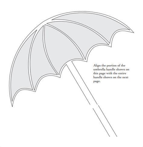preschool umbrella template sle umbrella template 7 free documents in pdf