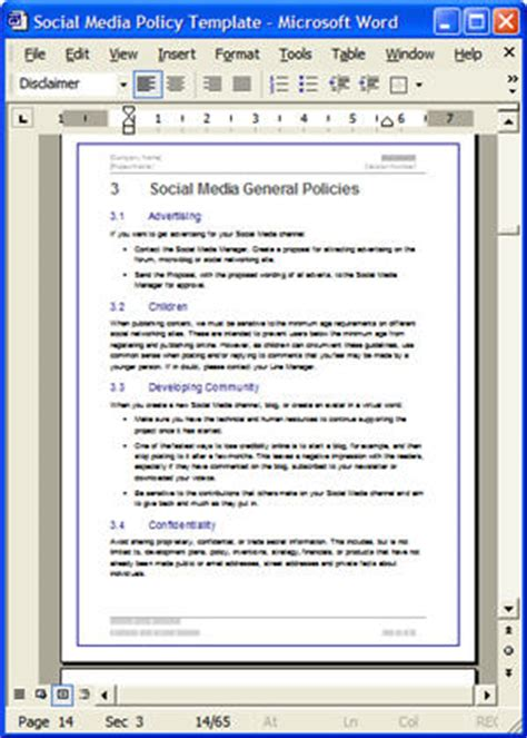 how to write a policy document template social media policy write social media policies for