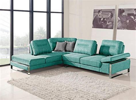 aqua sectional sofa 1332 sectional sofa in aqua fabric by at home usa
