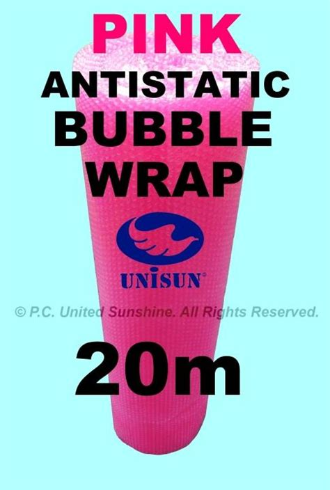 Promo Promo Pack Packing Wrap Wrapping U 1 2 Murah pink antistatic wrap 1m x 20m end 9 13 2017 2 15 pm