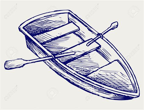 easy to draw rowboat drawn boat rowing boat pencil and in color drawn boat