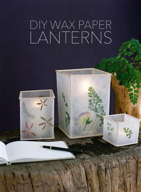 how to brilliant wax paper lantern project 187 curbly diy