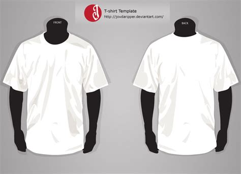 t shirt template front and back free download t shirt