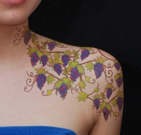 grapevine tattoo designs 11 beautiful vine tattoos that are for the shoulders
