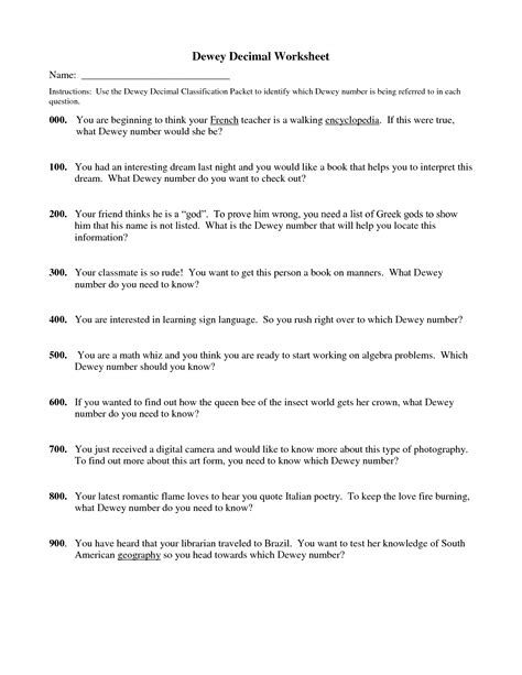 Dewey Decimal System Worksheets by 16 Best Images Of Being A Friend Worksheet Printable