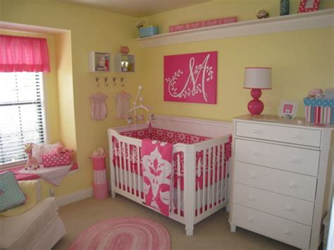 pink nursery ideas awesome yellow baby nurseries design dazzle