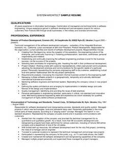 Sle Architect Resume by Enterprise Architect Resume Sales Architect Lewesmr