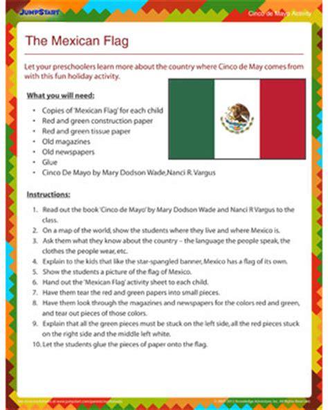 The mexican flag cinco de mayo activity for preschool jumpstart