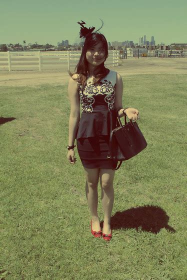 Dress Laurensia laurensia hartono lovisa black fascinator