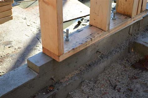 anchoring foamboard to concrete wall anchor bolts timber sill plate search sheds