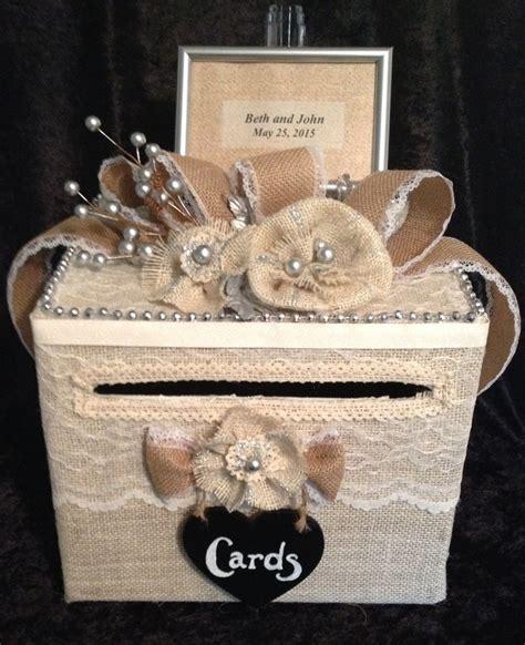 Rustic Wedding Card Box,burlap wedding card box,card box