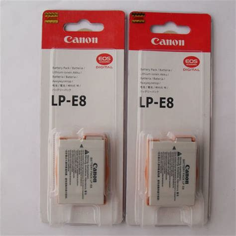 Canon Battery Lp E8 Original canon lp e8