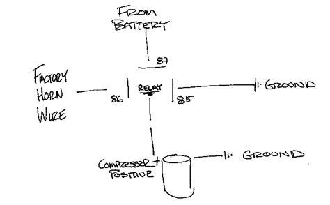 air horn wiring diagram compressor 34 wiring diagram