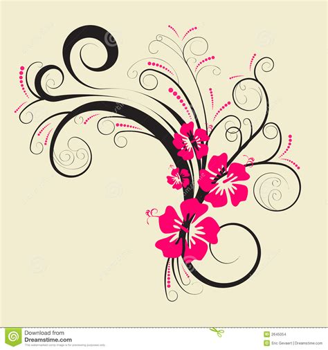 design flower with vector vector floral design stock vector image of contour