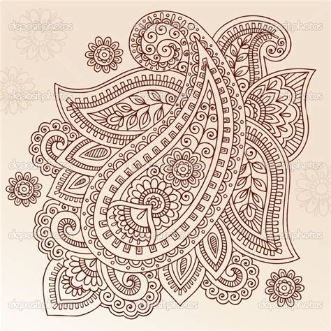 paisley pattern tattoo designs depositphotos 9463676 henna paisley flower doodle vector