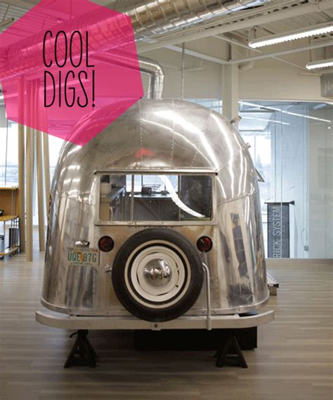 Office Space Trailer Vintage Airstream Trailers Inspire New Office Space
