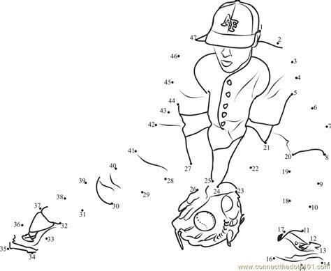 printable dot to dot sports baseball catch dot to dot printable worksheet connect