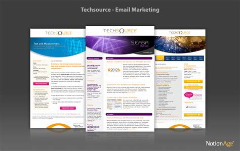edm template free techsource systems email marketing notion age