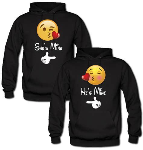 Mustache Home Decor emoji she s mine he s mine hoodie from teee shop couples bff
