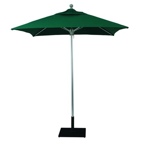 Outside Patio Umbrellas Galtech 6x6 Square Commercial Patio Umbrella