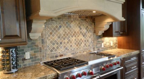 Slate Tile Kitchen Backsplash Slate Kitchen Backsplash Traditional Other Metro By Lunada Bay Tile