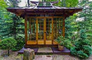 Backyard Cottage Kits by Japanese Tea House Asian Landscape Other Metro By