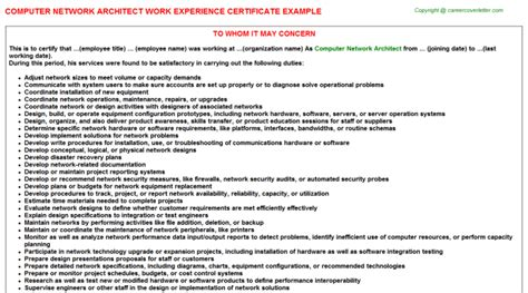 Experience Letter Hardware Networking 2 Senior Software Architect Application Letter Cv14006 Writinggroup245 Web Fc2