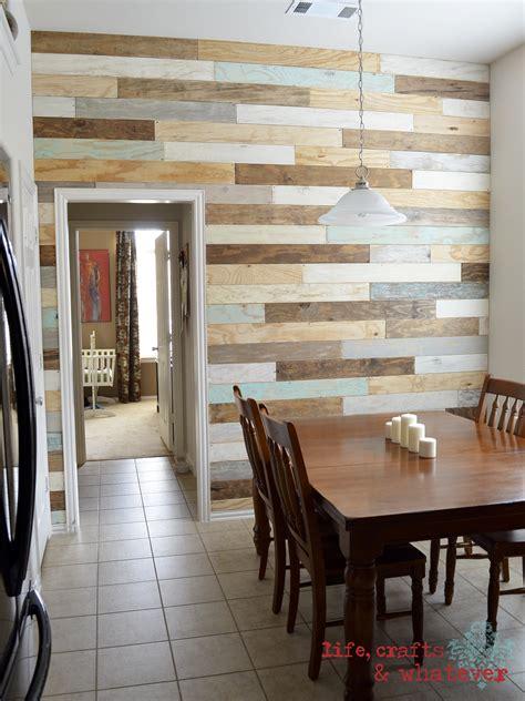 life crafts   plank wall finally