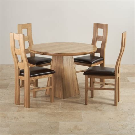Solid Oak Dining Tables And Chairs Provence Solid Oak Dining Set 3ft 7 Quot Table With 4 Chairs