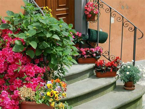 Garten Ideen Blumen Garten Deko Ideen Die Garten Oder Haustreppe Mit Blumen