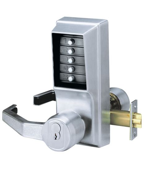 Door Knob Combination Lock by Kaba Ilco Lrp101026d Satin Chrome Right Handed Mechanical