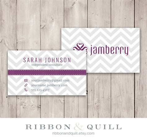 Template 8x4 Card Vistaprint by Jamberry Nails Business Card Chevron Custom Pdf