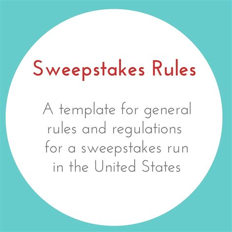 Sweepstakes Contest Rules - sweepstakes rules businessese