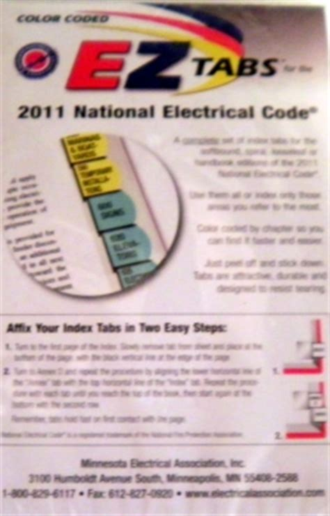 color coded ez tabs for the 2017 national electrical code tnt color coded ez tabs for 2011 or 2014 or 2017 nec book