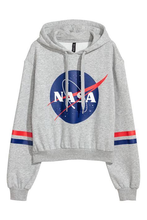 Hoodie Nasa Hitam 5 hooded sweatshirt light gray nasa h m us