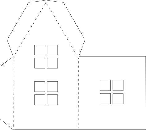 Paper Folding House Template - paper houses free templates
