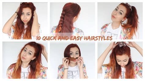 download quick and easy hairstyles 10 fast easy 10 quick and easy hairstyles for school uni work youtube