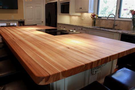 kitchen islands with butcher block tops hickory kitchen countertops j aaron