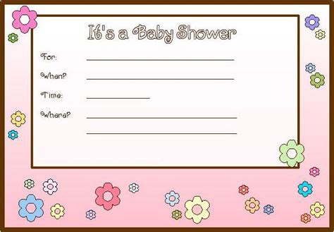 free printable templates for baby shower favors free printable baby shower invitations only good